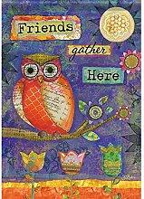 Carson Artistic Eule Garten Flagge 46237