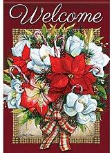 Carson Blumen von Weihnachten Garten Flagge 46030