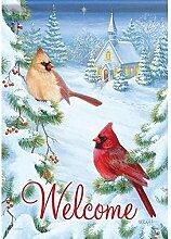 Carson Cardinals & Kirche Garten Flagge 45977