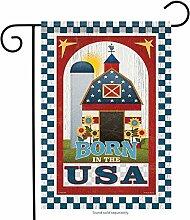 Carson Garten Flagge–Patriotische Barn