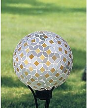 Carson Gartenkugel Silber/Gold