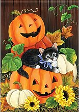Carson Happy Halloween Kitty Garten Flagge