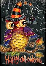 Carson Happy owl-oween Garten Flagge 46016
