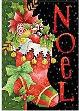 Carson Noel Weihnachtsstrumpf Garten Flagge 45694