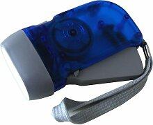 Cartec 2200227 Dynamo-Taschenlampe mit 3 LEDs
