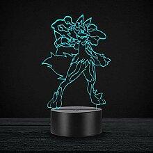 Cartoon 3D Illusion Licht Pokemon Spiel Charakter