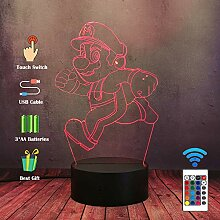 Cartoon-Anime-3D-LED-Nachtlicht für Kinder,