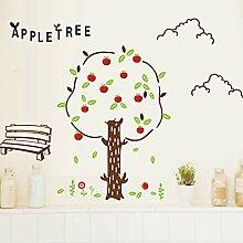 Cartoon Apfelbaum Wandaufkleber für Kinderzimmer