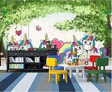Cartoon Ballon Pony Aquarell Handgemalte