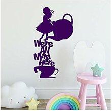 Cartoon Bild Von Kindern Wandkunst Aufkleber Für