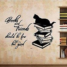 Cartoon Buch Und Freund Wandkunst Aufkleber