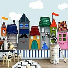 Cartoon Castle Benutzerdefinierte 3D Fototapete