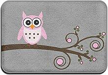 Cartoon Cute Pink Eule Cool Monogramm Fußmatte Outdoor die Sauberlaufmatten Tür vorne für Funny die Sauberlaufmatten