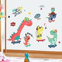Cartoon Dinosaurier Wandaufkleber Dekoration