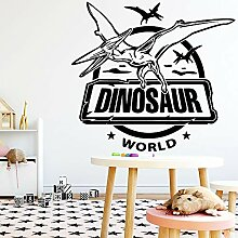 Cartoon Dinosaurier Wandkunst Aufkleber Dekoration