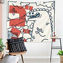 Cartoon Dinosaurier Wandteppich Wandbehang