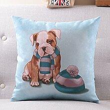 Cartoon dog hug kissen rückenkissen sie auto-kissen sofa-taille matte-A 45x45cm(18x18inch)VersionB