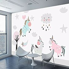 Cartoon Einhorn 3d Wandbilder Tapeten Fototapete