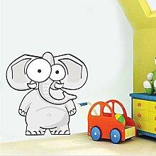 Cartoon Elefant Farbige Wandkunst Aufkleber Für