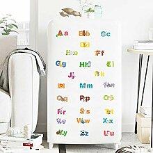 Cartoon Englisch Alphabet Wandaufkleber Für