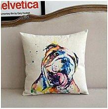 Cartoon Englische Bulldogge Farbe Imaging Kissen
