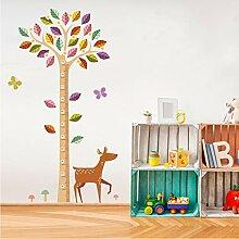 Cartoon Farbige Blätter Baum Höhe Maßnahme