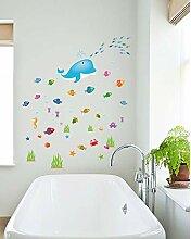 Cartoon Fish Whale Wohnzimmer Kindergarten Kinder