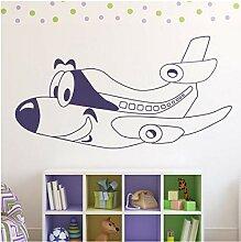 Cartoon Flugzeug Smiley Kind Flugzeug Kinderzimmer