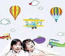 Cartoon Flugzeug Und Luftballons Abnehmbare