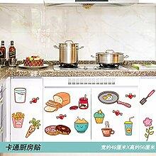Cartoon Food Aufkleber Küchenschrank