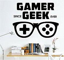 Cartoon Gamer Geek Wand Pvc Aufkleber Aufkleber