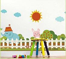 Cartoon Garten Zaun Taille Linie Sockel