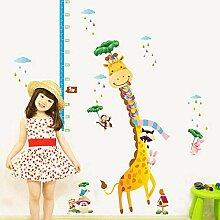 Cartoon Giraffe Höhe Aufkleber Abnehmbare Diy