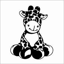 Cartoon giraffe kinder vinyl wandkunst aufkleber