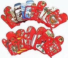 Cartoon Handschuhe Weihnachten Isolierung Matte