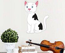 Cartoon Katze Wandaufkleber Niedlichen Tier Vinyl