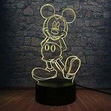 Cartoon Kawaii Mickey Mouse 3D LED Lampe 7