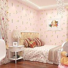 Cartoon Kinder Schlafzimmer Tapete/Kindergarten Baum Tapete/Vlies-Tapeten/Süßen blauen Kinder Zimmer Tapete-B