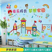 Cartoon Kinder Wandaufkleber Wanddekoration Layout