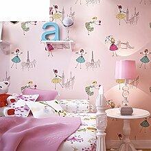 Cartoon Kinder Zimmer Tapete/Schlafzimmer3DTapete/solide Vliestapete/warm und pastorale Wallpaper/living Tapete-B