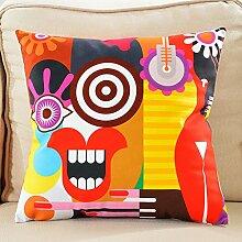 Cartoon kissen doppelseitig samt kissen colorful sofa kissen kissen-B 45x45cm(18x18inch)VersionB
