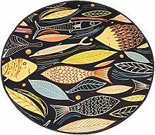 Cartoon Kleine Teppich Fisch Schlafzimmer Runde