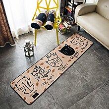 Cartoon Kreative Matten Haushalt Küche Schlafzimmer Bettvorleger Antirutschmatten,50CM×150CM