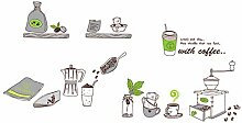 Cartoon Küchenwerkzeuge Restaurant Fliesen