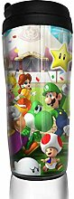 Cartoon Mario Glas Kaffeebecher Travel Mug
