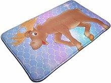 Cartoon Moose rutschfester Teppich traditioneller