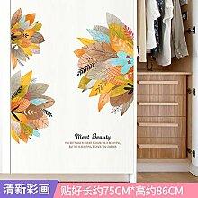 Cartoon Muster Garderobe Tür Aufkleber PVC