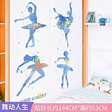 Cartoon Muster Kleiderschrank Türaufkleber PVC