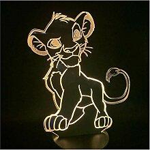 Cartoon Nachtlicht Der König der Löwen Simba LED