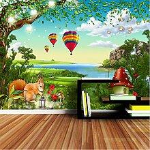 Cartoon Nette Tapete Für Wände 3D Wohnzimmer
